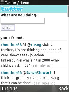 Twitter Mobile Screenshot