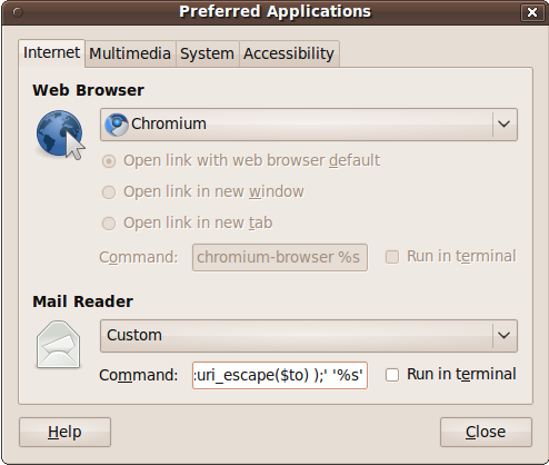 Ubuntu Preferences Screenshot