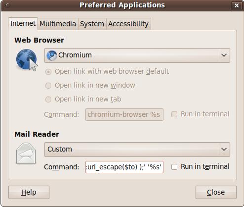 Ubuntu Preferences Screenshot