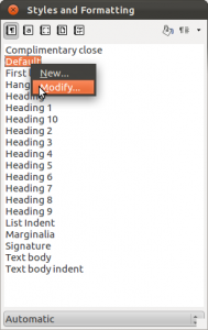 LibreOffice Styles