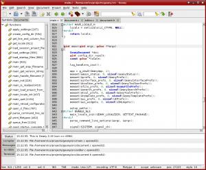 Geany Screenshot