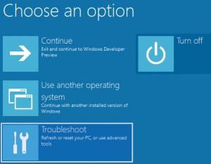 Window Troubleshoot Power Options