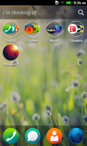 FirefoxOS Home Screen