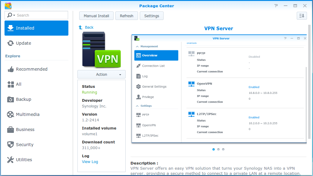 Synology OpenVPN connection from Android – digital nomad
